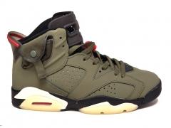 Air Jordan 6 Retro x Travis Scott Medium Olive/Infared/Black B66