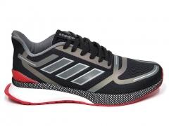 Adidas Cloudfoam Comfort Black/Red/Reflective B66