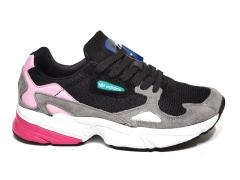 Adidas Falcon Black/Grey/Pink B66