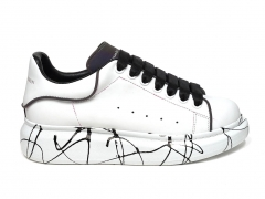 Alexander McQueen Painted Sole White/Black/Reflective B66