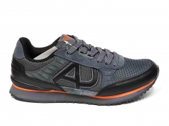 Armani Jeans Sneakers Grey/Black/Orange B66