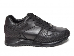 Ferazzi Sneaker Snake Leather Black FRZ018 B66
