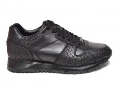 Ferazzi Sneaker Snake Leather Black FRZ018 B66