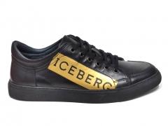Iceberg Sneakers Leather Black/Gold B66