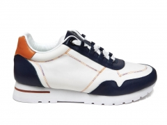 Loro Piana Sneakers Wind Leather White/Navy B66