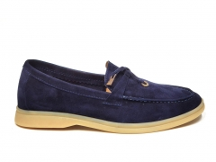 Loro Piana Summer Charms Walk Navy Suede B66