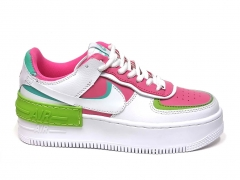 Nike Air Force 1 Low Shadow White/Pink/Green B66