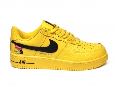 Nike Air Force 1 x Supreme The North Face Yellow/Black B66