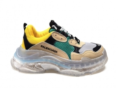 Balenciaga Triple S Clear Sole Beige/Green/Yellow B66