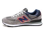 New Balance 574 Grey/Navy/Orange B66