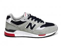 New Balance 840 Light Grey/Black/Red/White B66