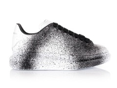 Alexander McQueen Sneaker White/Spray Black (с мехом)