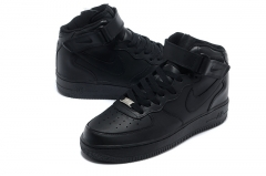 Nike Air Force 1 Mid Black (с мехом)
