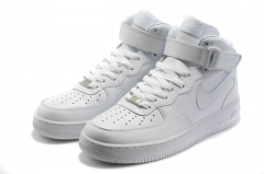 Nike Air Force 1 Mid White (с мехом)
