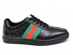 Gucci Ace Signature Sneaker Black Leather