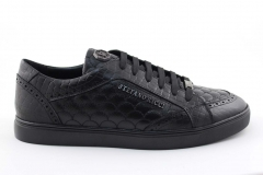 Stefano Ricci Sneaker Black Leather STFR1
