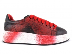 Alexander McQueen Sneaker Black/White/Red Spray