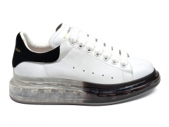 Alexander McQueen Transparent Sole White/Black