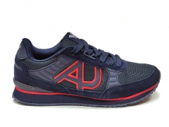 Armani Jeans Sneakers Navy/Red GA09