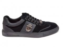 Billionaire Lo-Top Sneakers Crest Black BLL20