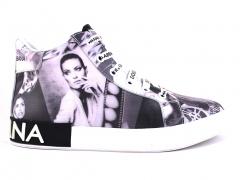 Dolce & Gabbana Portofino Mid Black/White Film Print