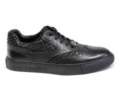 Ferazzi Sneakers Oxfrod Leather Black FZ02