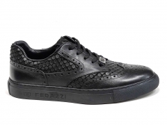Ferazzi Sneakers Oxfrod Leather Black FZ02