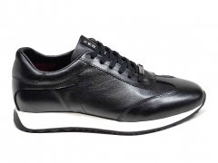Ferazzi Low Sneakers Leather Black/White FZ13