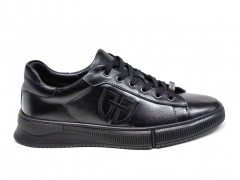 Ferazzi Low Sneakers Leather Black FZ12