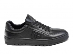 Ferazzi Low Sneakers Leather Black FZ11
