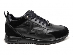 Ferazzi Sneakers Run Leather/Suede Black FZ06