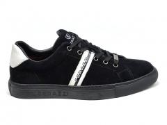 Ferazzi Low Sneakers Suede Black/White FZ07