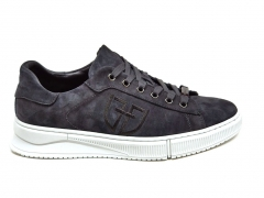Ferazzi Low Sneakers Suede Grey/White FZ14