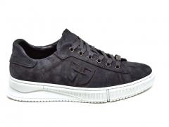 Ferazzi Low Sneakers Suede Grey/White FZ14