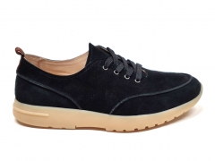 Loro Piana Freetime Walk Suede Black LP01