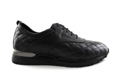Louis Vuitton Run Away Sneaker Black Leather Quilted