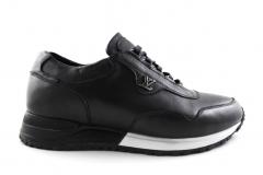 Louis Vuitton Run Away Sneaker Black Leather/White