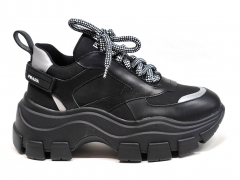 Prada Block Sneakers Black/Silver PR20