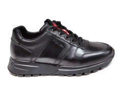 Prada Sneakers Leather All Black PR20