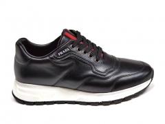 Prada Sneakers Leather Black/White PR20
