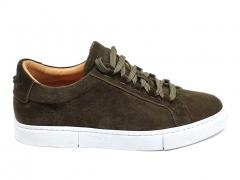 Tod's Sneakers Suede Khaki/White TD02