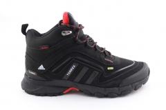 Adidas Terrex Seamless Mid Black/Red (с мехом)