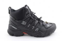 Adidas Terrex SwiftR Mid Black Leather (с мехом)