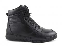 Ботинки Roberto Cavalli Leather Black (натур. мех)