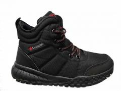 Columbia Waterproof High Black (с мехом)