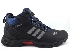 Adidas Climaproof Mid Black/Blue (натур. мех)