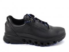 Ecco Multi-Vent Black/Blue Leather E19