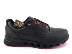 Ecco Multi-Vent Black/Red Leather E19