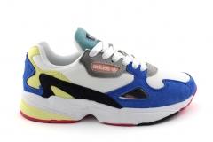Adidas Falcon White/Blue/Yellow