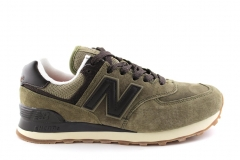 New Balance 574 Suede Olive/Brown